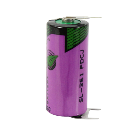 Tadiran 3,6V 3 pin voor PCB