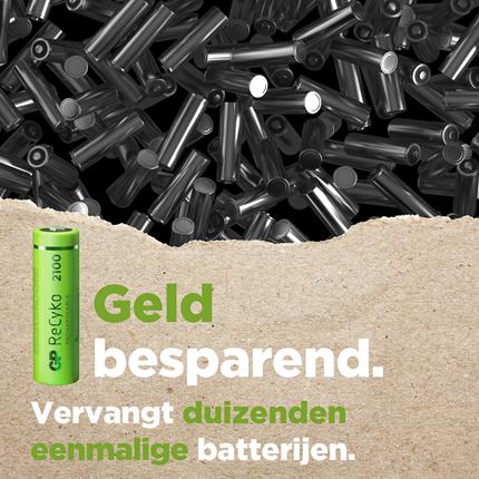 GP ReCyko AA 2100mAh 4 stuks Oplaadbare NiMH Batterij