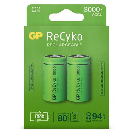 GP ReCyko C 3000mAh 2 stuks Oplaadbare NiMH Batterij
