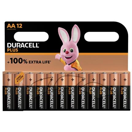 Duracell alkaline plus AA batterij