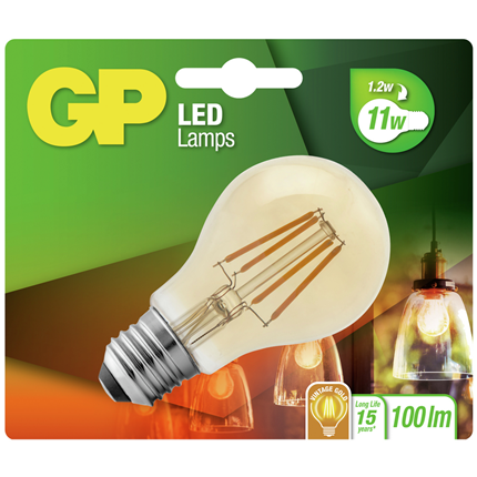 GP LED Lamp Peer E27 1,2W