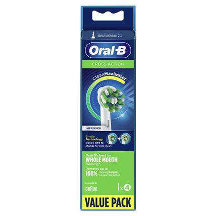 Oral-B CrossAction Tandenborstel 4 Stuks Wit 80338435