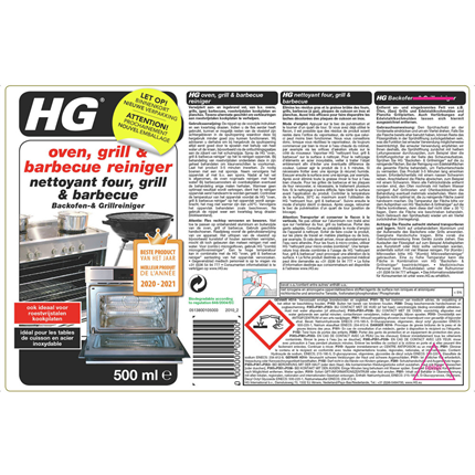 HG Oven, Grill & Barbecue Reiniger