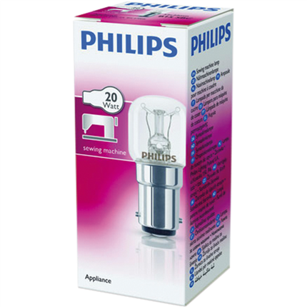 Philips Naaimachinelamp 20W-B15D