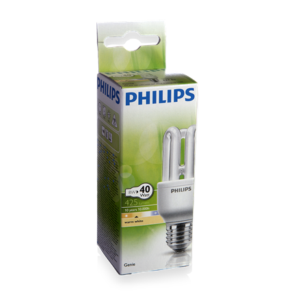 Philips Spaarlamp E27 8W Staaf Genie