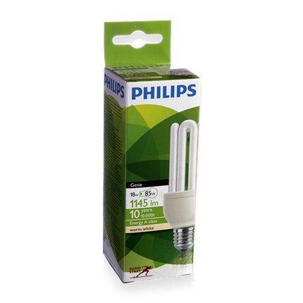 Philips Spaarlamp E27 18W Staaf Genie