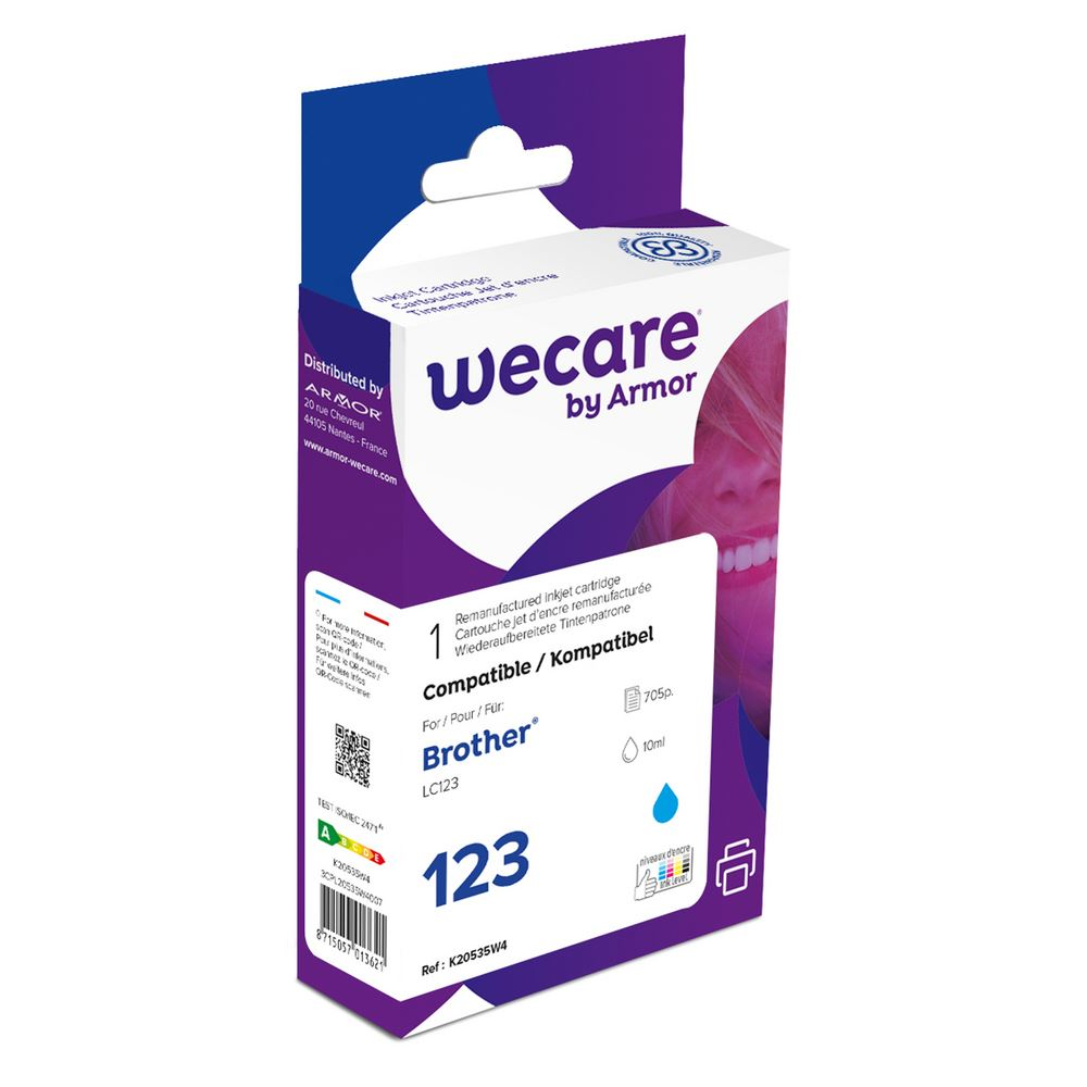 weCare Cartridge Brother LC123 Blauw