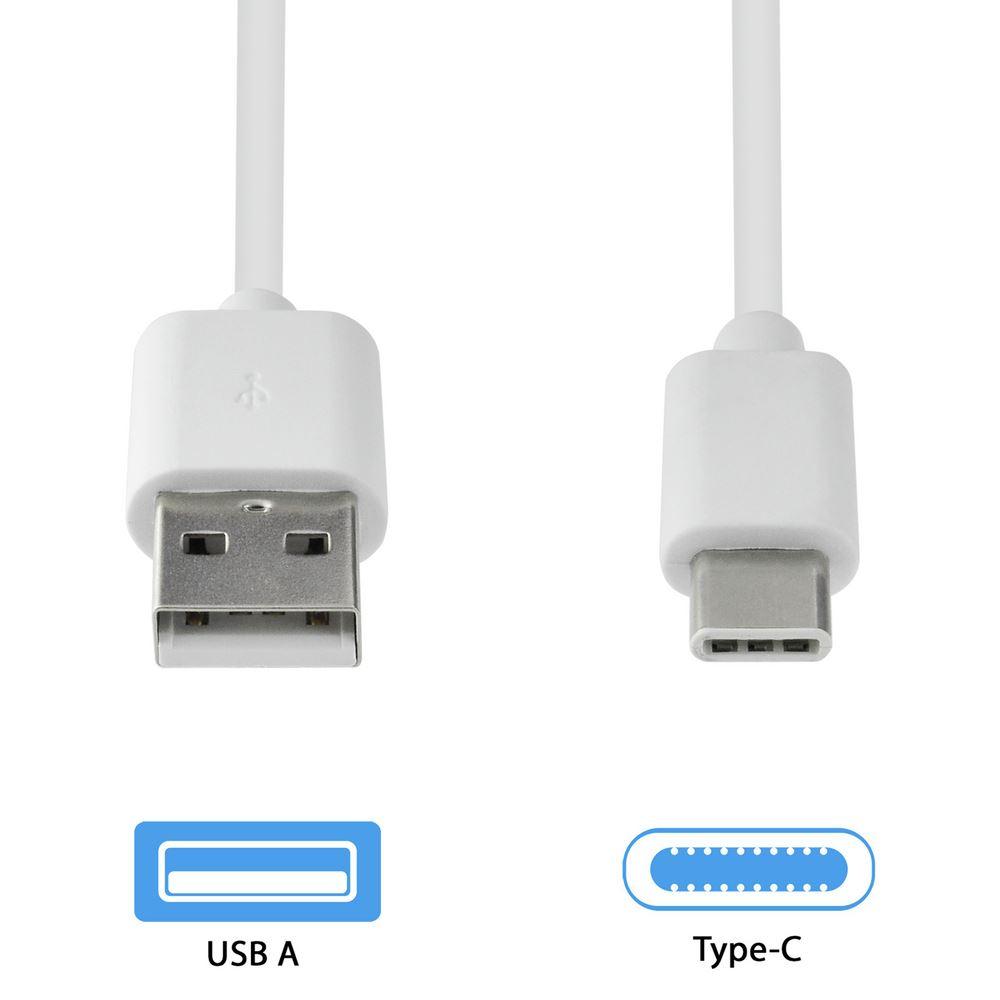 Grab 'N Go usb-c kabel wit 1 meter