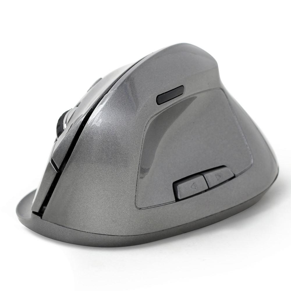 Gembird draadloze ergonomische muis MUSWERGO02 grijs