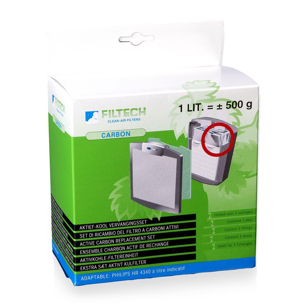 Filtech koolstoffilter vulling HR4941