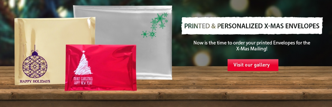 printed christmas envelopes