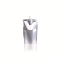 Spoutbag ø10mm (330ml) 110 mm x 180 mm Silver