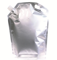 Spoutbag ø21.8mm transparent 290 mm x 355 mm Silber