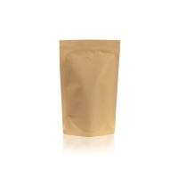 Lamizip Kraft Paper Stand Up Pouches with valve 164 mm x 252 mm Brown