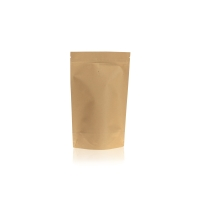 Lamizip Kraft Paper Stand Up Pouches with valve 144 mm x 227 mm Brown