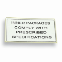 Label IATA-DGR 100 mm x 60 mm Wit