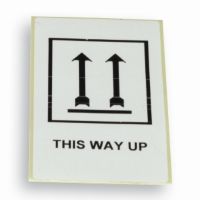 Label 'This way up' 60 mm x 100 mm Hvid