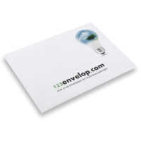 Printed Envelopes, 2 colors 9.02 inch x 12.76 inch White