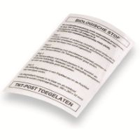 Label PolyMed Dutch print 80 mm x 120 mm Transparent