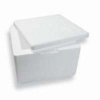 0.8 Gallon EPS box 9.06 inch x 9.25 inch White