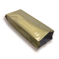 Side Gusset Bag 100 mm x 310 mm Gold