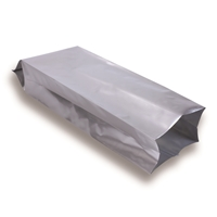 Side Gusset Bag 80 mm x 255 mm Silver