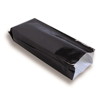 Side Gusset Bag 130 mm x 380 mm Black
