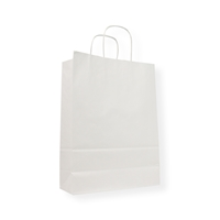 Paper Carrier bag 9.06 inch x 12.60 inch White