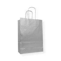 Paper Carrier bag 7.09 inch x 9.84 inch Silver