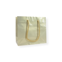 GlossyBag Pearl White 320 mm x 270 mm Guld