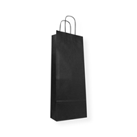 Paper Wine bag 5.91 inch x 15.55 inch Black
