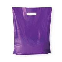 Baggie Carrier Bags 14.96 inch x 17.32 inch Purple