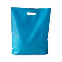 Baggie Carrier Bags 14.96 inch x 17.32 inch Blue