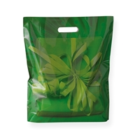 Baggie Carrier Bags 15.75 inch x 17.32 inch Green