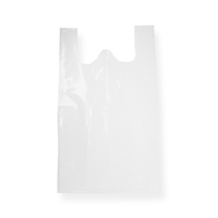 Vest plastic Carrier Bag 10.63 inch x 18.90 inch White