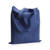 Cotton Carrier Bags 14.96 inch x 16.54 inch dark blue