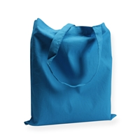 Cotton Carrier Bags 14.96 inch x 16.54 inch Blue