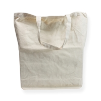 Cotton Carrier Bags 16.14 inch x 16.54 inch White