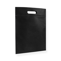 Non Woven Carrier Bags 11.81 inch x 15.75 inch Black