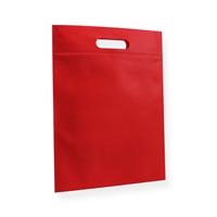 Non Woven Carrier Bags 11.81 inch x 15.75 inch Red