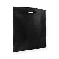 Non Woven Carrier Bags 15.75 inch x 17.72 inch Black
