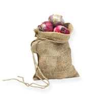 Jute Draw String Bag 7.87 inch x 11.81 inch Brown