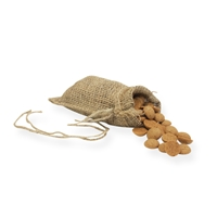 Jute Draw String Bag 4.72 inch x 8.27 inch Brown