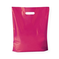 Baggie Carrier Bags 14.96 inch x 17.32 inch Pink