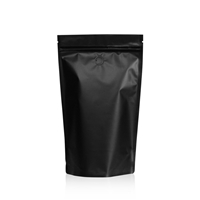 Lamizip Colour Stand Up Pouches 160 mm x 265 mm Black