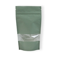 Lamizip Kraft Paper with window 100 mm x 195 mm Green