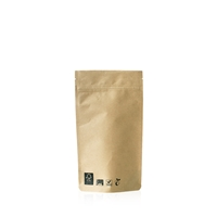 Compostable Lamizip Kraft Paper 4.33 inch x 6.89 inch Brown