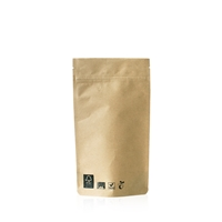 Compostable Lamizip Kraft Paper 5.12 inch x 7.87 inch Brown