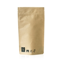 Compostable Lamizip Kraft Paper 6.65 inch x 9.88 inch Brown