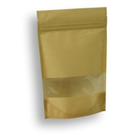Lamizip Rice Paper Stand Up Pouches 150 mm x 225 mm Brown